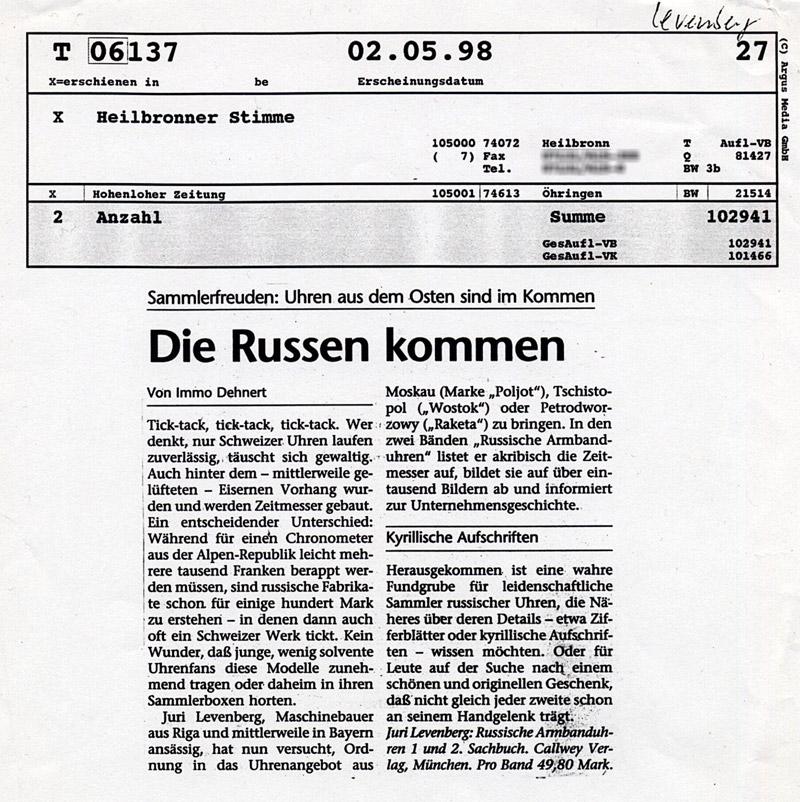 Heilbronner Stimme 02 05 89 Heilbronner Stimme 02/05/89