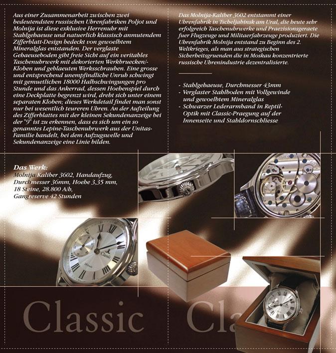 Juri Levenberg Classic Werbung 02 JL Classics | Molnija 3603