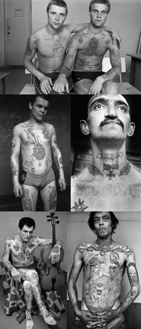 Sergei Vasiliev Collage Russian Criminal Tattoos | London exhibition