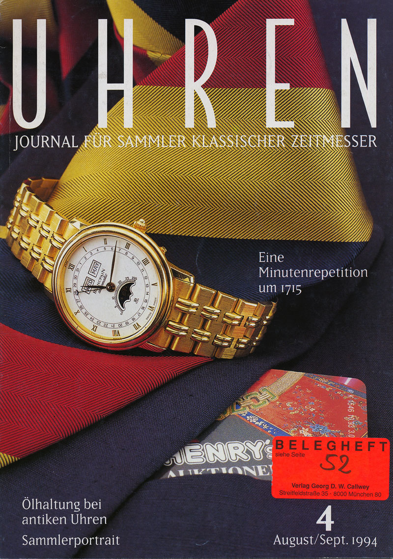 uhren 04 94 cover UHREN Journal 4/94